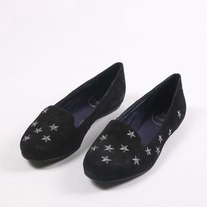Jack Rogers starstruck embroidered flat navy